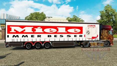 Curtain semi-trailer Miele for Euro Truck Simulator 2