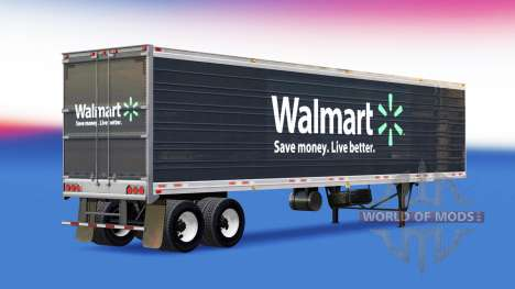 Skin Walmart on the trailer for American Truck Simulator