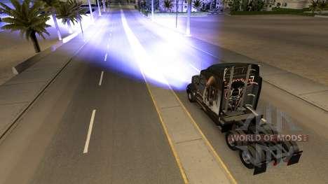 Blue xenon headlights for American Truck Simulator