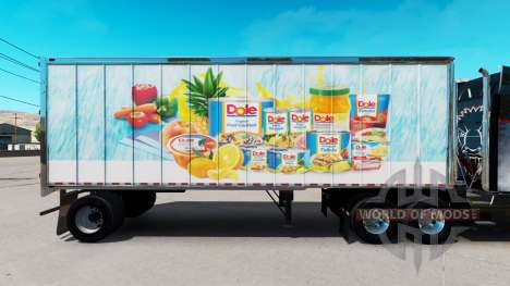 Skin Dole on small trailer for American Truck Simulator