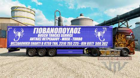 Skin Bosch Service Trucks to trailers for Euro Truck Simulator 2