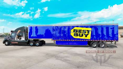 Skin Best Buy on curtain semi-trailer for American Truck Simulator