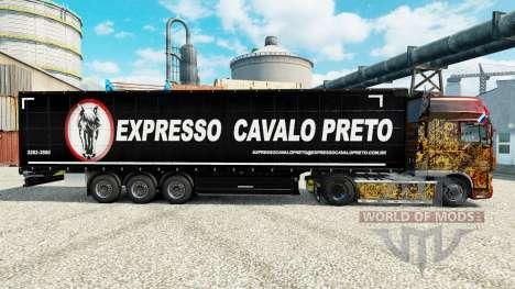 Skin Expresso Cavalo Preto in the semi for Euro Truck Simulator 2