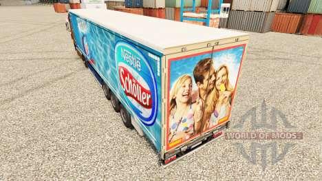 Nestle Scholler skin for trailers for Euro Truck Simulator 2