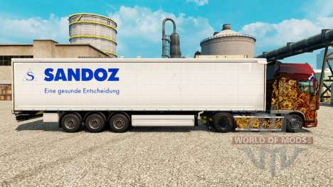 Skin Sandoz for trailers for Euro Truck Simulator 2
