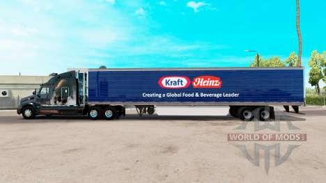 Skin Kraft Heinz extended trailer for American Truck Simulator