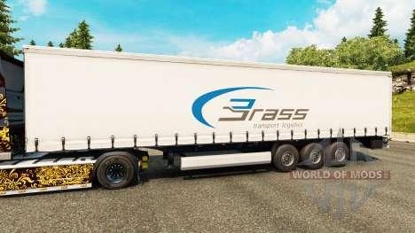 Skin Brass Transport Logistics for trailers for Euro Truck Simulator 2