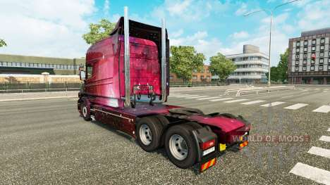 Weltall skin for truck Scania T for Euro Truck Simulator 2