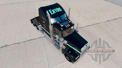 Skin Ervins Transport on truck Kenworth W900 for American Truck Simulator