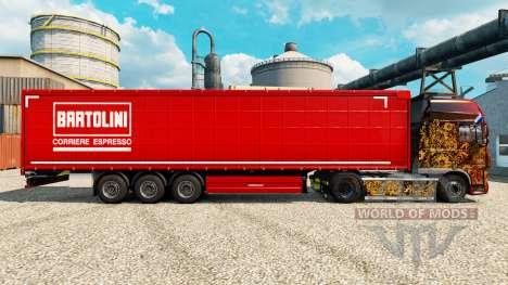 Skin Bartolini on semi for Euro Truck Simulator 2