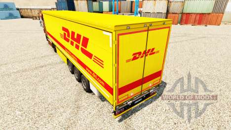 Skin DHL v4 for trailers for Euro Truck Simulator 2