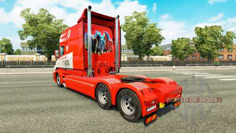 Skin S. Verbeek & ZN. for truck Scania T for Euro Truck Simulator 2