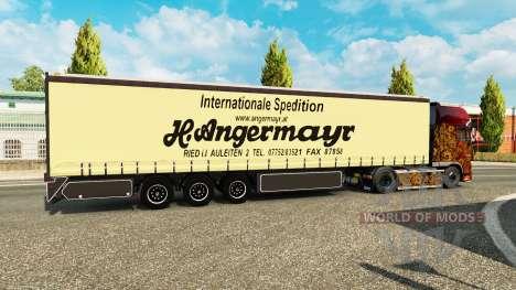 Curtain semi-trailer Vogelzang Angermayr for Euro Truck Simulator 2