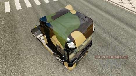 Camo skin for DAF truck for Euro Truck Simulator 2
