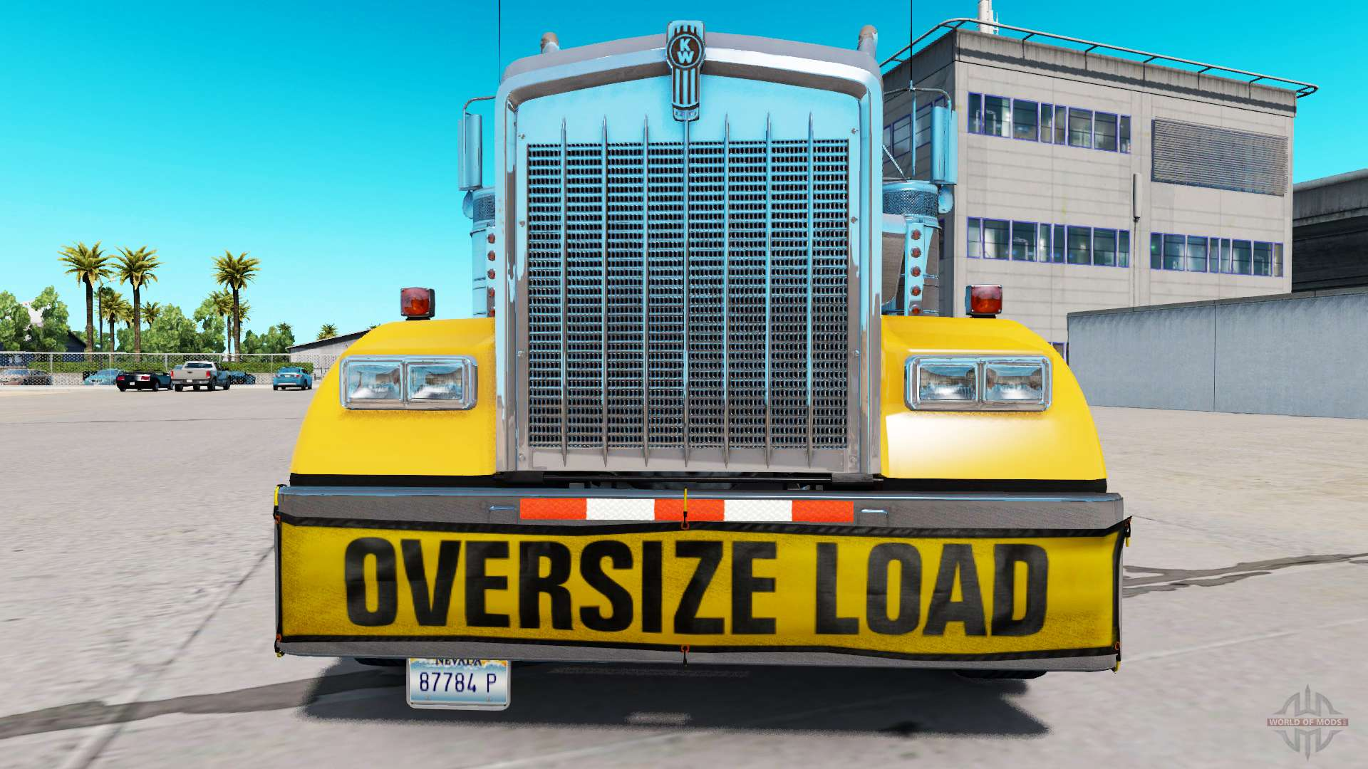 Bumper Oversize Load for the Kenworth W900 for American