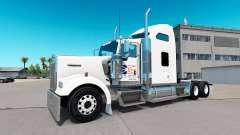 Skin Newfoundland Flag on the truck Kenworth W900 for American Truck Simulator