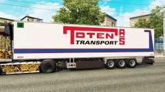 Semi-trailer refrigerator Chereau Toten Transport for Euro Truck Simulator 2