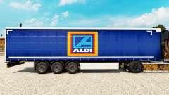 Skin Aldi on a curtain semi-trailer for Euro Truck Simulator 2