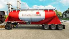 Skin Supermix cement semi-trailer for Euro Truck Simulator 2
