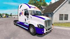 The skin on the FedEx truck Freightliner Cascadia for American Truck Simulator