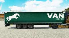 Skin on a curtain Cargo Van semi-trailer for Euro Truck Simulator 2