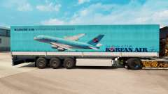 Skin Korean Air to trailers for Euro Truck Simulator 2