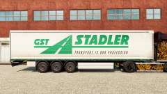 Skin GST Stadler on a curtain semi-trailer for Euro Truck Simulator 2