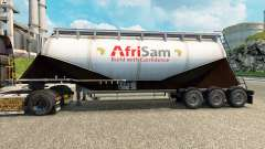 Skin AfriSam cement semi-trailer for Euro Truck Simulator 2