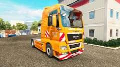The J. Eckhardt Spedition skin v1.8 the tractor MAN for Euro Truck Simulator 2