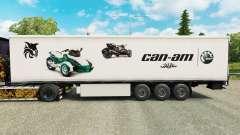 Skin Can-Am on semi for Euro Truck Simulator 2
