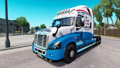 Скин North American на Freightliner Cascadia for American Truck Simulator