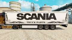 Skin white Scania Truck Parts for semi-trailers for Euro Truck Simulator 2