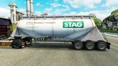 Skin STAG cement semi-trailer for Euro Truck Simulator 2