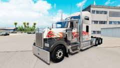 The skin of the Bull on the truck Kenworth W900 for American Truck Simulator
