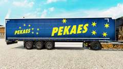 Skin pekaes sa on a curtain semi-trailer for Euro Truck Simulator 2