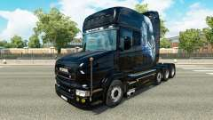 White Cheetah skin for truck Scania T for Euro Truck Simulator 2