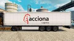 Skin Acciona for trailers for Euro Truck Simulator 2