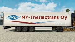 Skin NV-Thermotrans Oy on a curtain semi-trailer for Euro Truck Simulator 2