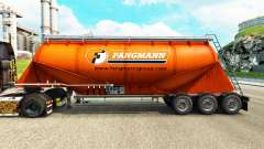 Skin Fangmann cement semi-trailer for Euro Truck Simulator 2
