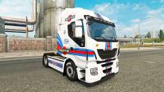 Martini Racing skin for Iveco tractor unit for Euro Truck Simulator 2