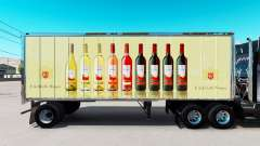 Skin E. & J. Gallo Winery in small trailer for American Truck Simulator