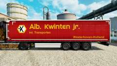Skin Alb. Kwlnten Jr. on semi for Euro Truck Simulator 2