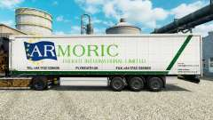 Skin Armoric Freight International on the trailer for Euro Truck Simulator 2