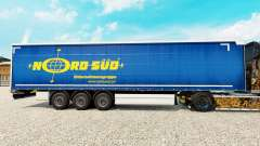 Skin NordSued on a curtain semi-trailer for Euro Truck Simulator 2