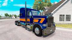 Скин Rollin Transport v1.1 на Peterbilt 389 for American Truck Simulator