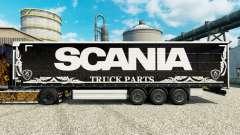 Skin Scania Truck Parts dark to semi for Euro Truck Simulator 2