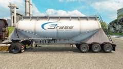Skin Brass Transport cement semi-trailer for Euro Truck Simulator 2
