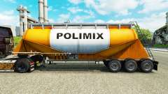 Skin Polimix cement semi-trailer for Euro Truck Simulator 2