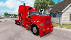Skin Arizona USA Red tractor Peterbilt 389 for American Truck Simulator