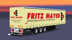 Curtain semi-trailer Schmitz Fritz Mayer for Euro Truck Simulator 2
